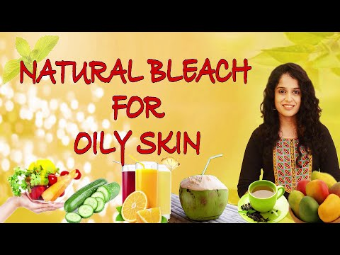 NATURAL BLEACH FOR OILY SKIN II KITCHEN BEAUTY II