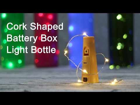 Cork Shape Battery Pack Light Up Wine Bottle