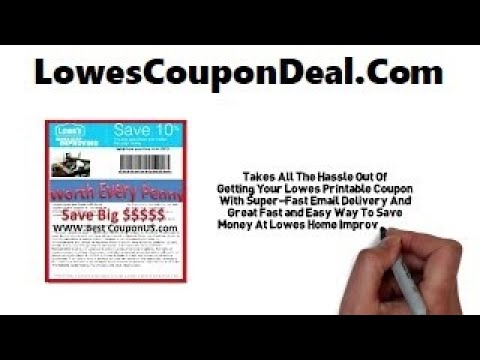 Lowes Coupon Printable 10% off Discount Code Online Promo