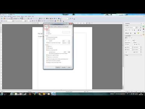 Comment convertir un fichier doc en pdf avec OpenOffice