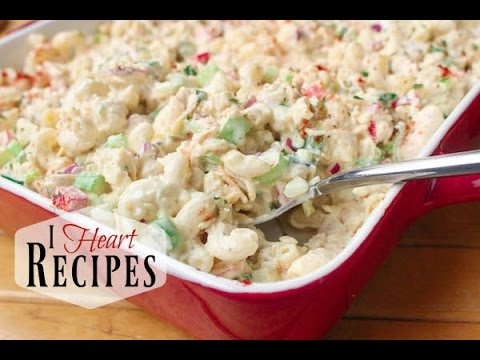 How to make Cold  Chicken Macaroni Salad - I Heart Recipes