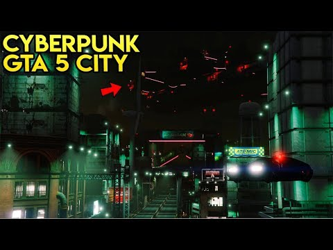 GTA 5 - Los Santos as a Cyberpunk City