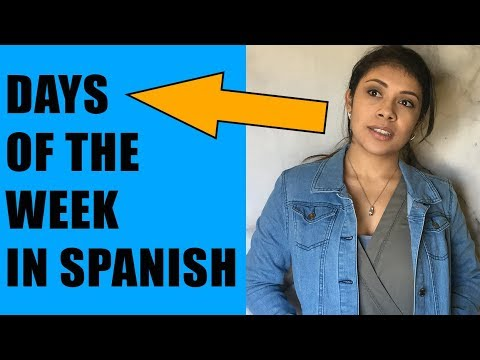 Spanish Lessons For Beginners: Days Of The Week