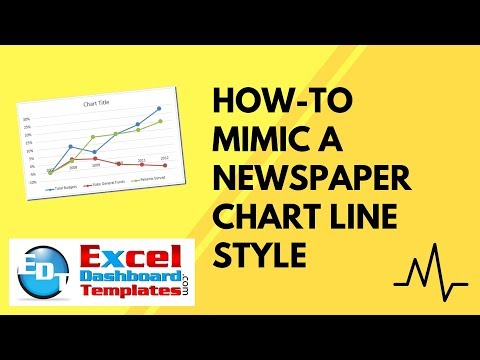 How-to Mimic a Newspaper Chart Line Style in Excel
