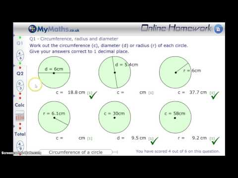 MyMaths - Circumference L6