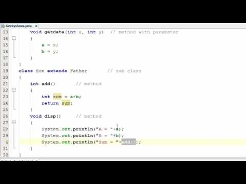 105. Single Inheritance in Java Programming (Hindi)