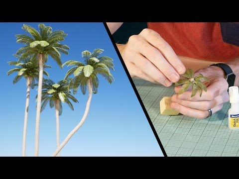 Coconut Palm Tree Tutorial - Model Scenery