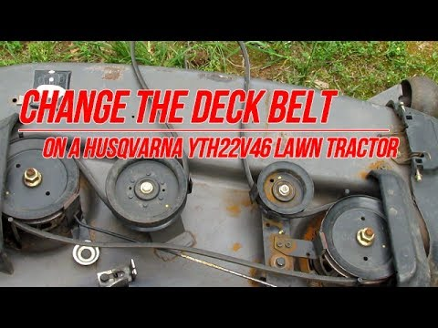 Replace Deck Belt on Husqvarna YTH22V46 Lawn Tractor