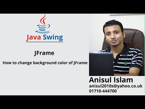 Java Swing Bangla Tutorial 11 : How to change background color of JFrame