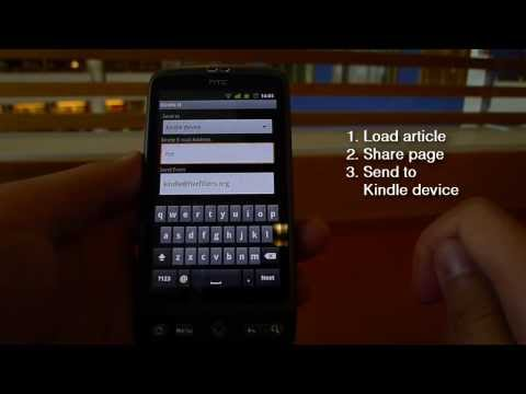 Push to Kindle: Send web articles to your Kindle