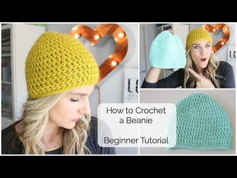 How to Crochet a Beanie - Beginner Tutorial