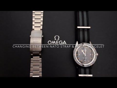 How To Change NATO Strap & Metal Bracelet on SPECTRE Omega Seamaster