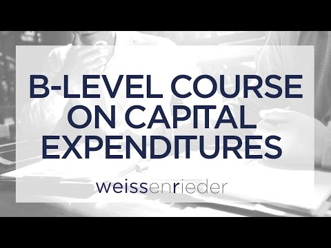 B-level Course on Capital Expenditures