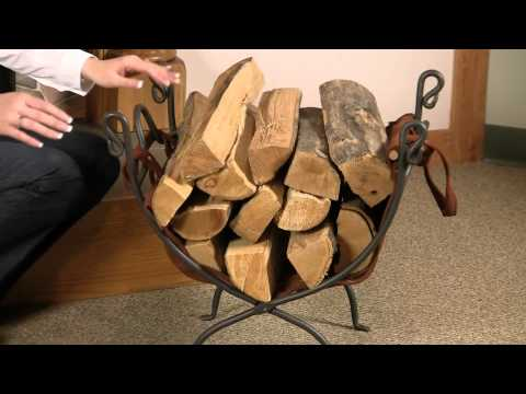 Iron Log Rack with Wood Carrier
