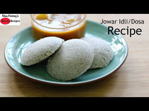 Jowar Dosa / Jowar Idli Recipe - How To Make Jowar Dosa-Summer Weight Loss Healthy Breakfast Recipes