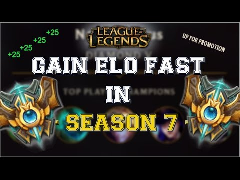 How to GAIN ELO FAST in SEASON 7 | League of Legends Tips
