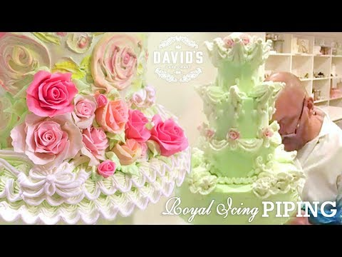 CAKE DECORATING TECHNIQUES - HOW TO - ROYAL ICING PIPING & FLOWER MAKING DEMO TUTORIALS