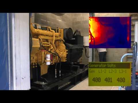 Load testing a 500kVA generator