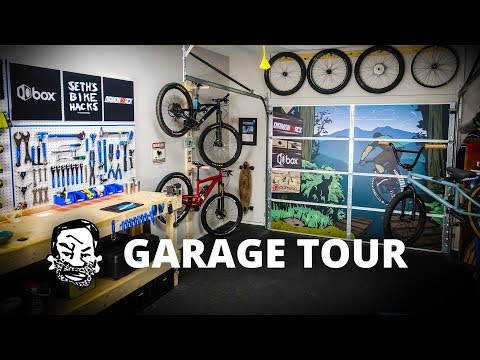 Home Bike Shop Update - Garage door art!