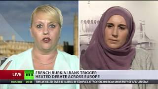Burkini Ban Backlash: Wearing full-body swimming costume is political act? (DEBATE)