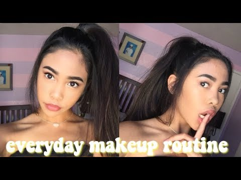 EVERYDAY MAKEUP ROUTINE  FOR HIGH SCHOOL 2018