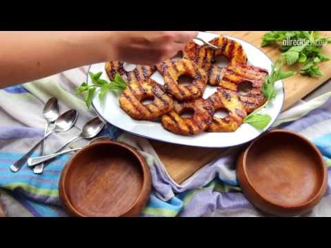 BBQ dessert recipe - How to barbecue pineapple video