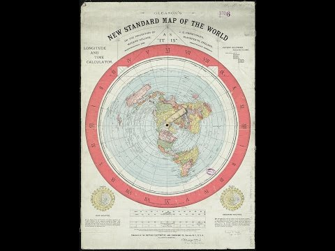 Flat Earth AZ Map... Nautical Miles... Earth's True Size.. (maybe).