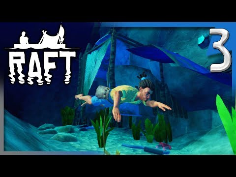 SCAVENGING FOR SCRAP AND EXPANDING THE RAFT! | Raft Survival Game Gameplay/Let's Play S2E3