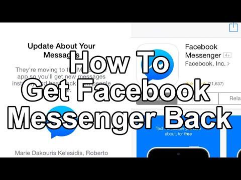 How to get facebook in-app messenger back.