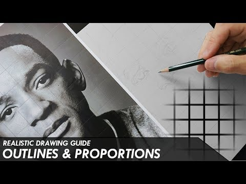 OUTLINES & PROPORTIONS - HOW TO USE A GRID - Realistic Drawing Guide