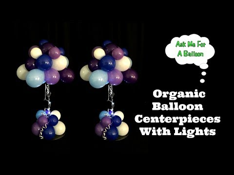 Organic Balloon Centerpieces With Lights