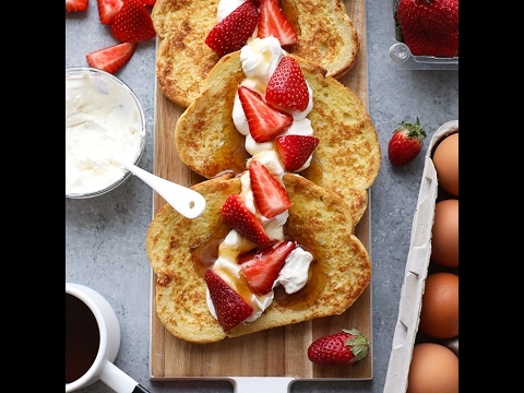 Strawberries and Cream Sourdough French Toast