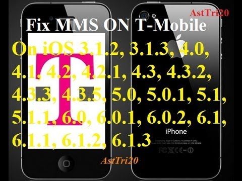 How To Fix Tmobile MMS on iOS 6.1.3/6.1.2/5.1.1 iPhone 5/4S/4/3Gs -Get Picture Messaging & Data