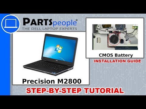 Dell Precision M2800 (P29F001) CMOS Battery How-To Video Tutorials