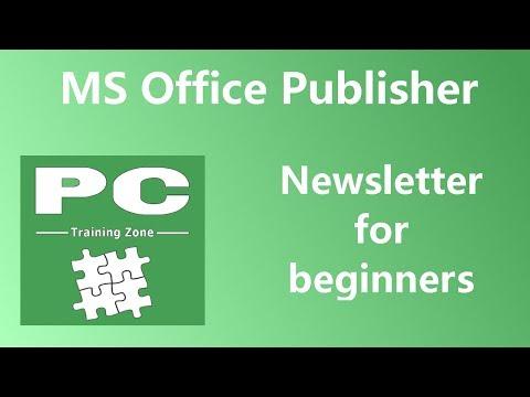 MS Office Publisher - Newsletter for Beginners
