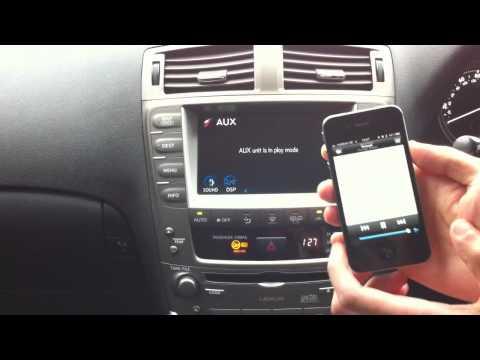 Lexus Wireless Music Streaming using Bluetooth A2DP