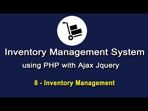 Inventory System in PHP using Ajax Jquery - Inventory Management - 2