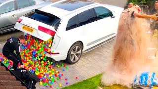 Download HILARIOUS PLASTIC BALL PRANK!! (priceless reactions) Video