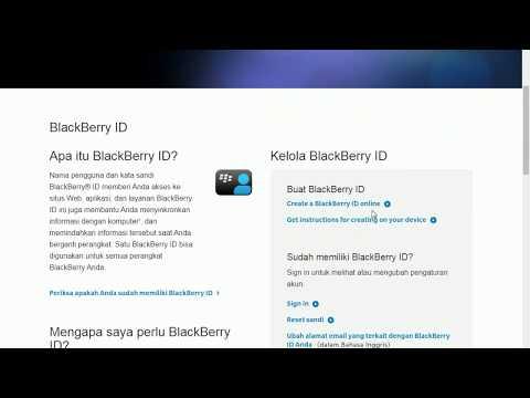 Buat Akun Blackberry ID Baru