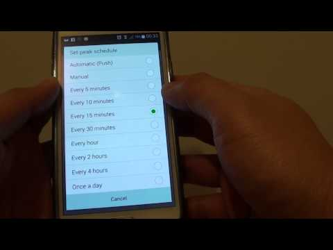 Samsung Galaxy S5: How to Change Email Sync Time From Peak Schedule Period