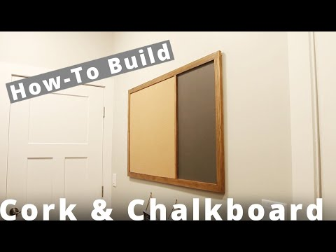 How To Make a Cork and Chalkboard DIY Project | Woodworking