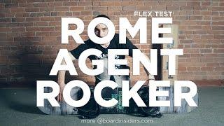 Rome Agent Rocker Flex Test - Boardinsiders.com - 2016 Rome Agent Rocker Snowboard