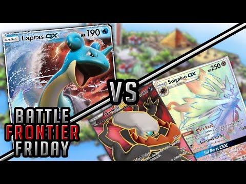 Pokémon TCG Matchup - Lapras GX Waterbox vs Darkrai EX/Solgaleo GX | Battle Frontier Friday #23