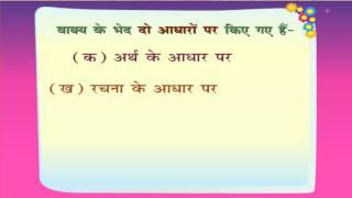 Vakya Bhed Arth Ke Aadhar Per - [अर्थ के आधार पर