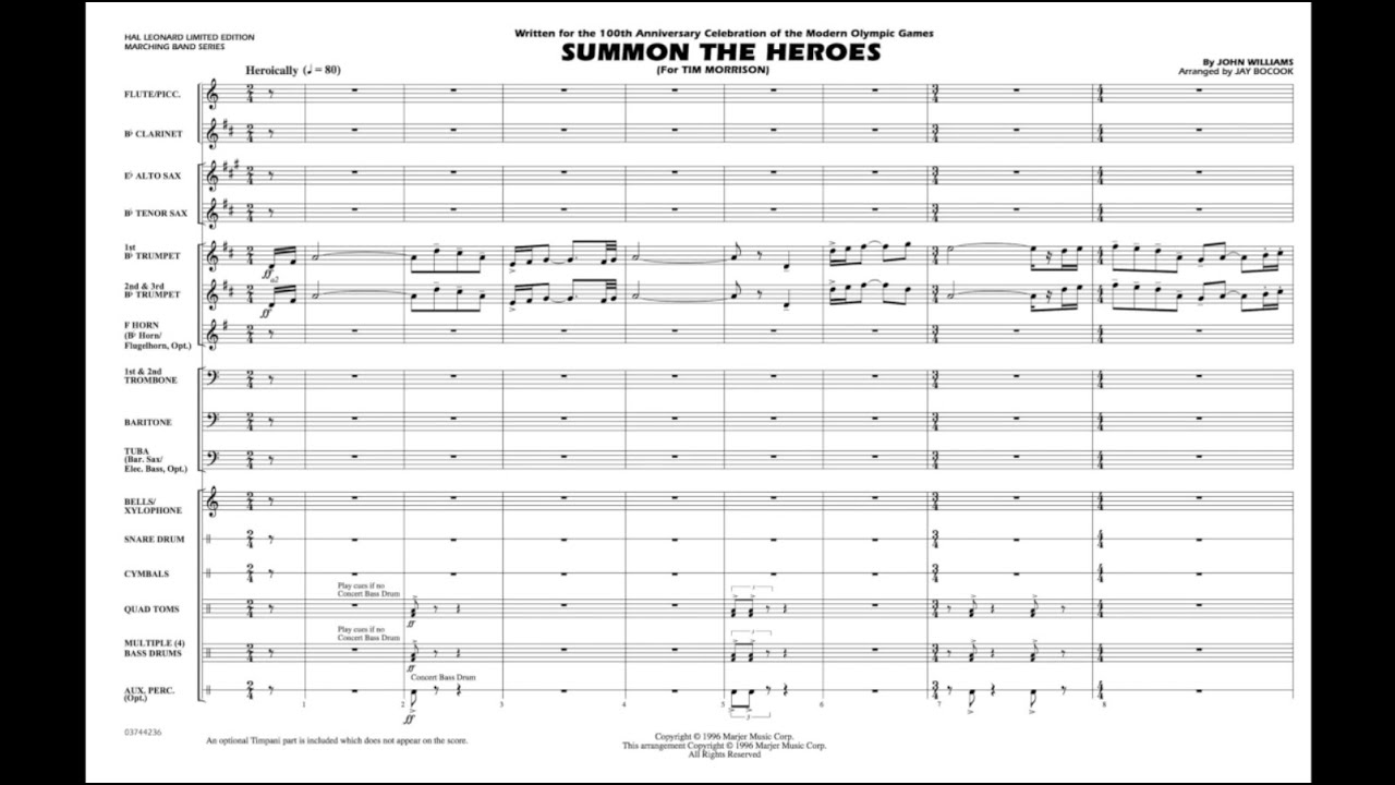 Download Summon the Heroes by John Williams/arr. Jay Bocook MP3 Gratis