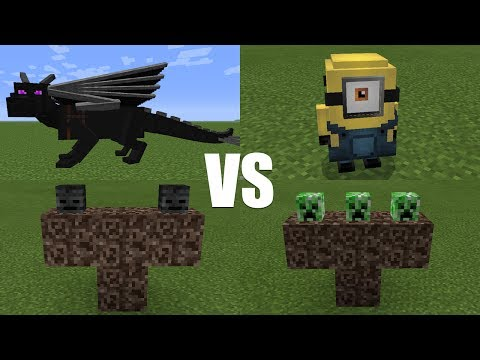 What Happens When You Spawn Minions, Creeper Boss, the Wither & Ender Dragon in Minecraft PE?