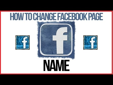 How To Change Facebook Page Name - Facebook Tutorial