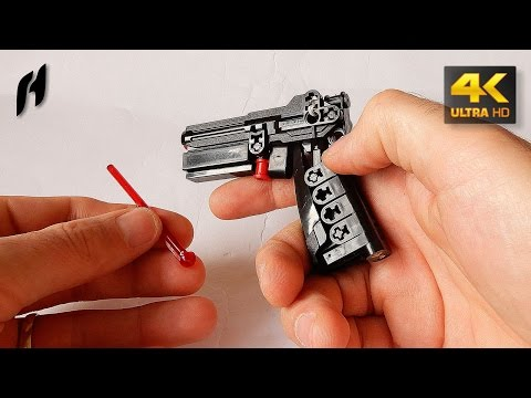 How to Build the Lego Technic Gun (MOC - 4K)