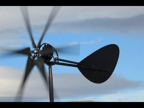 Furling Axial Flux Wind Turbine Dual Magnet Design Belgrade Machine LLC Montana