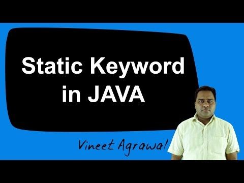 Static Keyword in JAVA (Hindi)